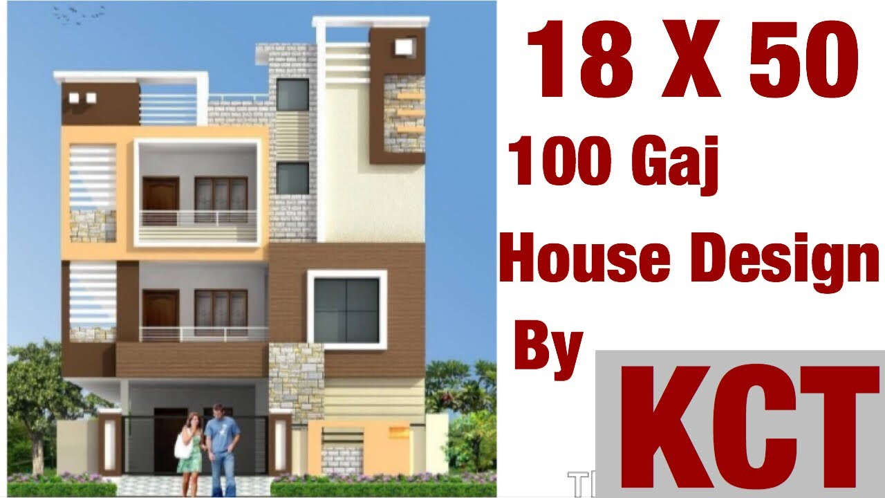 18 X 50 Sq Ft House Design House Plan Map 1 Bhk With Car Parking 100 Gaj Youtube