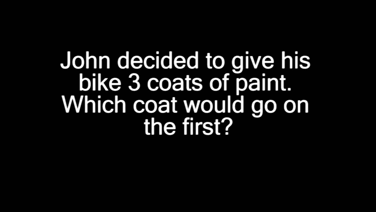 Trick Question #1 - Bike Paint (Great Trick Question, Brain Teaser ...