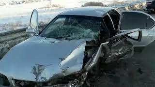 Жёсткая авария произошла на трассе Р-256 в районе Лебедёвки под Бердском 2