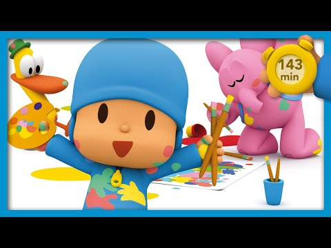 🏒 POCOYO AND NINA - Thousand fun games [143 min]  ANIMATED CARTOON for Children  FULL episodes