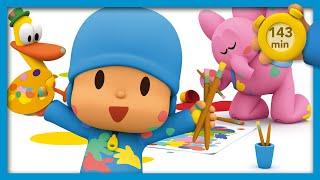 🏒 POCOYO AND NINA - Thousand fun games [143 min] |ANIMATED CARTOON for Children |FULL episodes