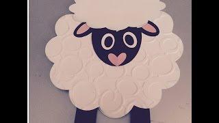 como hacer una tarjeta con forma de oveja, para cumpleaños y todas ocasiones