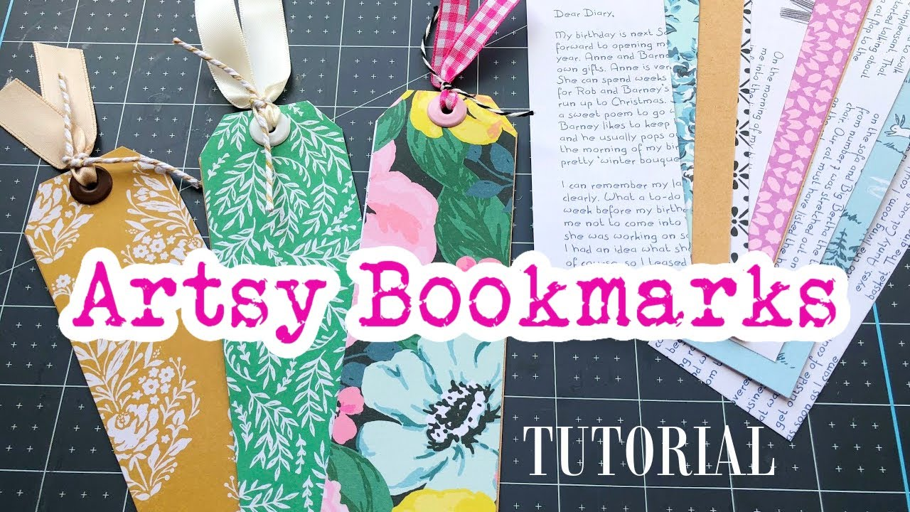 Artsy Bookmarks • Using up my scraps!