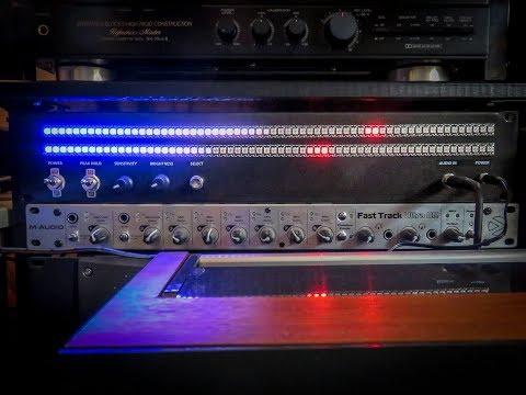 """19"""" rack version Arduino VU meter"""