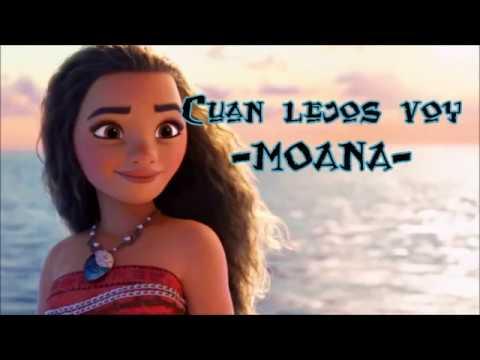 Moana - Letra Cuán lejos voy (Me llama)- lyrics