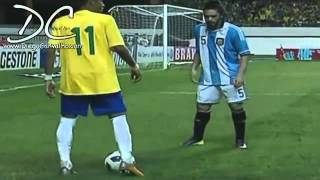 Neymar 2012 Super Football Skills Brasil Vs Argentina .