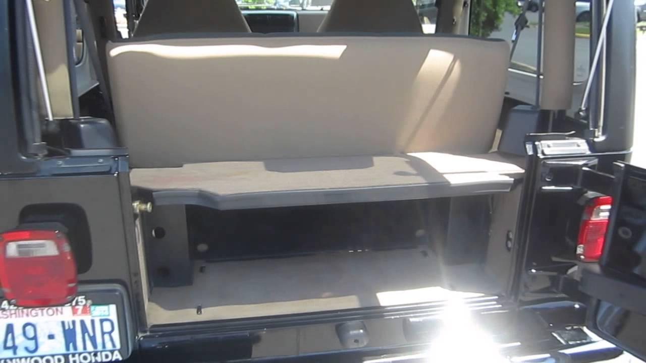 2000 Jeep Wrangler Black Stock 14115k Trunk Youtube