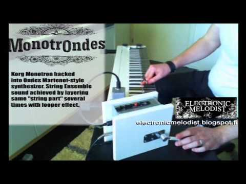 MATRIXSYNTH: MonotrOndes - Korg Monotron hacked into Ondes Martenot
