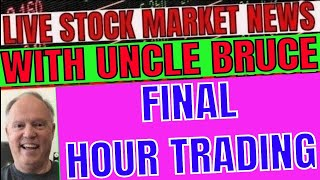 Live Final Hour of Trading Stock Market News In Plain English with Uncle Bruce GameStop GME