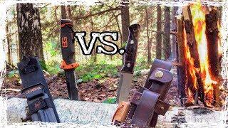 Костер в сыром лесу! Тест ножа Gerber BG Ultimate и Beaver Knife American Bushcraft [Bushcraft]