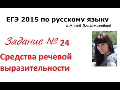Видеоурок по русскому языку егэ 2015 24 задание