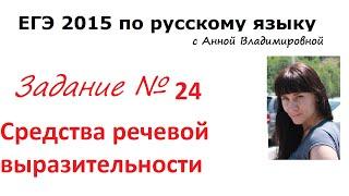 24 задание. (Часть 1) ЕГЭ 2016 русский язык