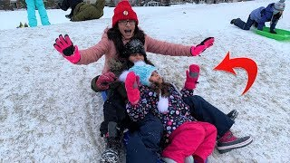 Kids Playing in the Snow!!! family fun vlogs