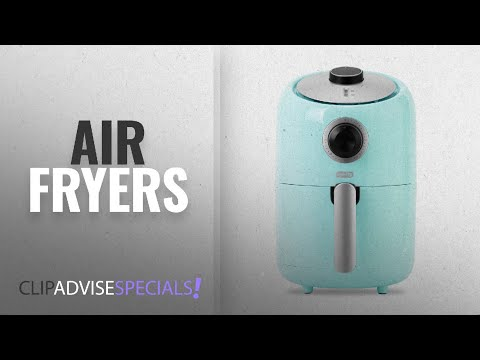 Top 10 Dash Compact Air Fryer [2018]: Dash DCAF150GBAQ02 Compact Air Fryer, Aqua