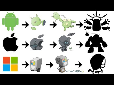 What If Apple, Google, Microsoft Logo Were Pokemon Evolutions ?