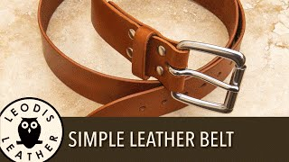 Making a Simple Leather Belt (53 mins)