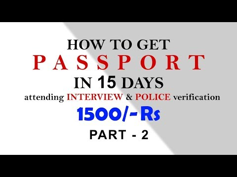 How to apply for PassPort Online ( attending interview, police verification)  (KANNADA) PART 2