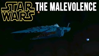 Space Engineers - STAR WARS The MALEVOLENCE Dreadnought! (Crash Test!)