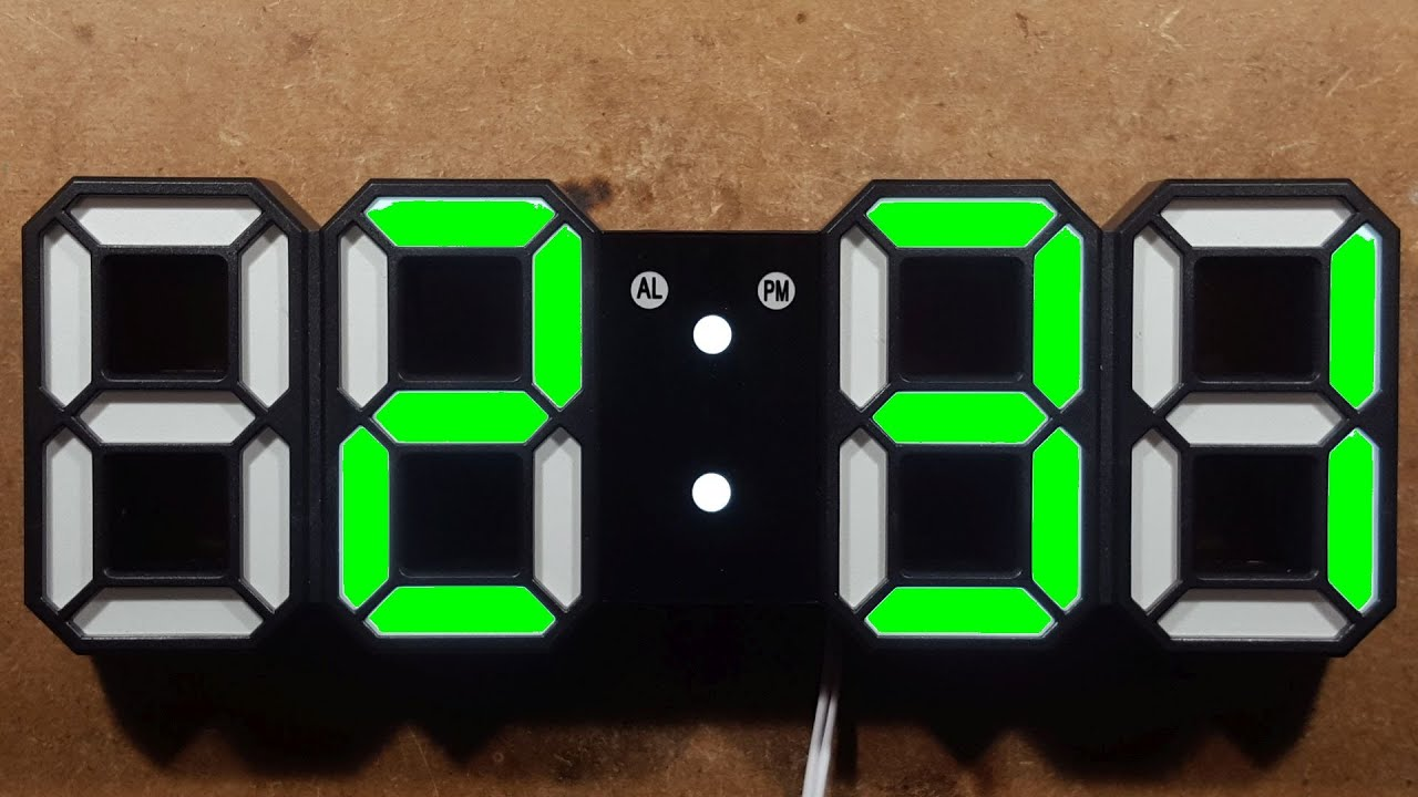 How to set your 3D LED digital wall clock.