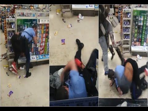 UNRULY BLACK WOMAN ACTS UP IN 7/11, TUSSLES WITH COP. WHO WAS RIGHT OR WRONG? ⚜️MASHA THA MENACE⚜️