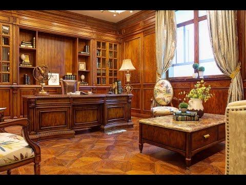 классические кабинеты из дерева