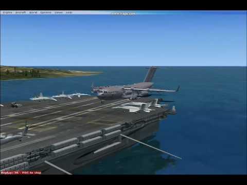 C 17 On Aircraft Carrier FSX: C-17 Globemaster ...