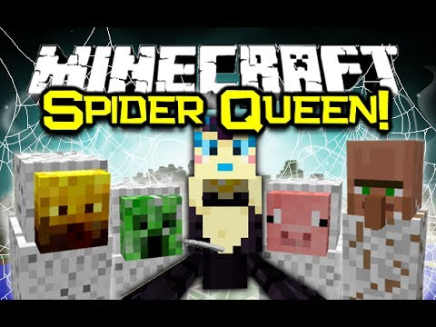 Minecraft SPIDER QUEEN MOD Spotlight! You Are The Spider! (Minecraft Mod Showcase)