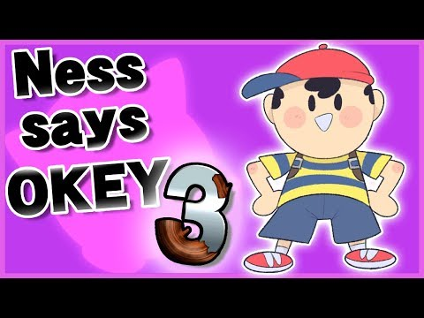 "Ness says ""Okey"" in response to other taunts 3 - Super Smash Bros. Ultimate thumbnail"