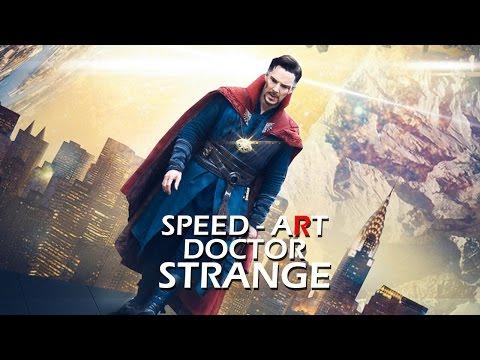 """Постер к фильму """"Doctor Strange""""   Speed - art in Photoshop"""