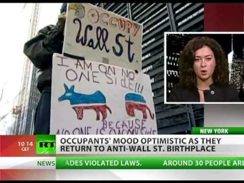 Re-Occupy Wall Street: Protesters back in Zuccotti Park