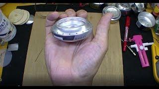 試作の空缶カッターでアルコールストーブ自作 Prototype can cutter for alchool stove