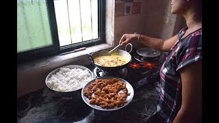 DAILY INDIAN LUNCH ROUTINE 2018 IN HINDI | INDIAN DAILY LUNCH ROUTINE | KITCHEN CLEANING ROUTINE
