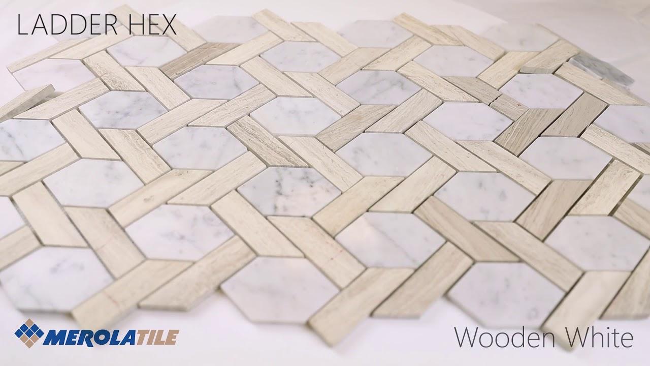 ladder hex marble mosaic merola tile