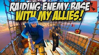 Raiding Enemy Neighbours with my ALLIED Forces! - Rust Solo Survival Gameplay