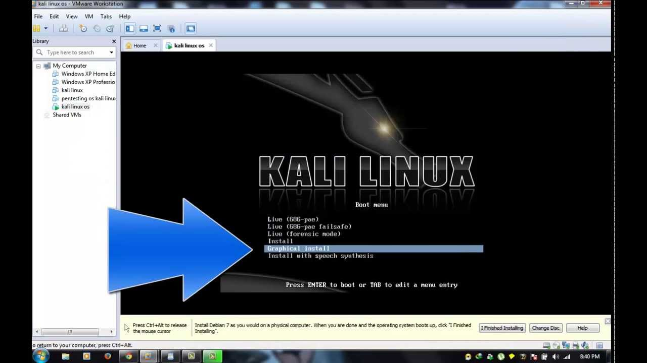 How to install kali on vmware and make it full screen _vmware tools_