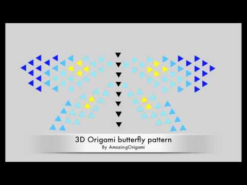 How To Make A 3D Origami Butterfly Pattern