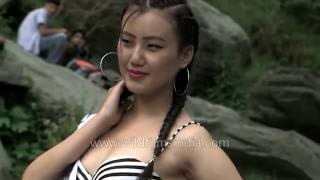 Repeat youtube video Miss Tibet - Swimsuit round causes controversy