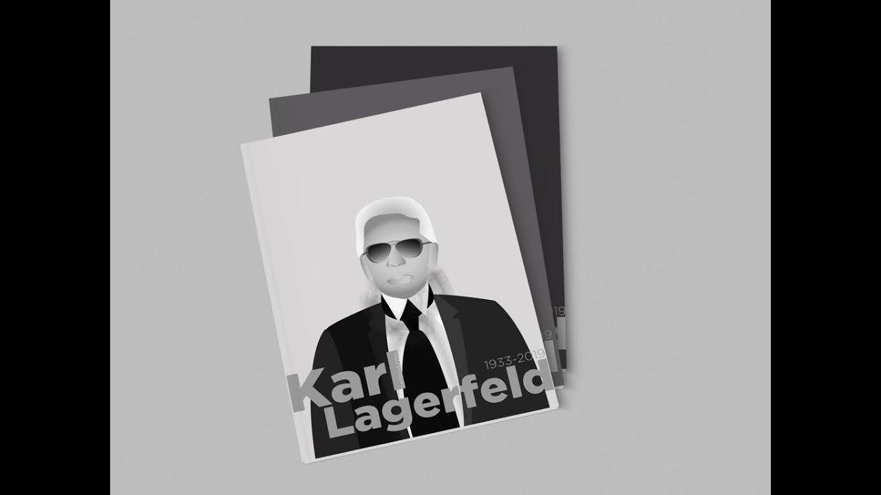 Karl Lagerfeld Vector Drawing Timelapse Youtube