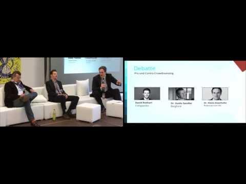 Crowd Dialog Konferenz Crowdfunding - Debatte - Pro und Contra Crowdinvesting