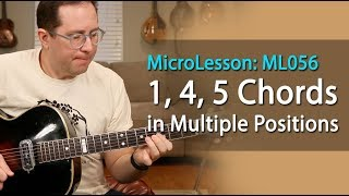 1, 4, 5 Blues Chords (and fill licks) in different positions on the neck. Blues Guitar Lesson ML056
