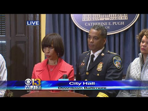 Mayor Catherine Pugh Holds Press Conference After Firing BPD