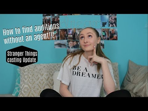 How to find auditions without an agent!! Stranger Things casting update!