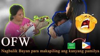 OFW, nagbalikbayan para sorpresahin at makapiling ang kanyang pamilya😭🤗