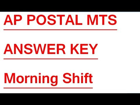 AP Postal MTS Morning Shift exam paper with Key || AP Post MTS Key exam held on 22nd October