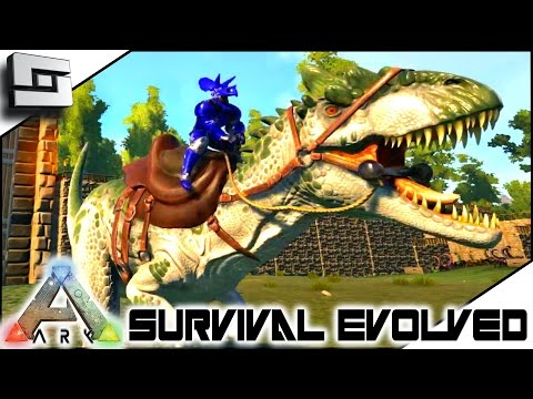ARK: Survival Evolved - TAMING AN ALLOSAURUS! S4E42 ( The Center Map Gameplay )
