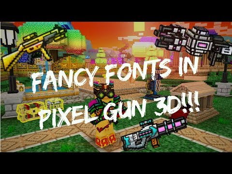 HOW TO GET COOL NAMES ON PIXEL GUN 3D!!!