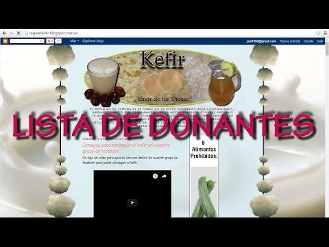 lista de donantes de kefir como mirarla en facebook