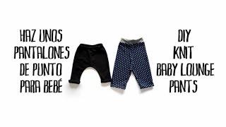 Haz unos pantalones de punto de bebé - DIY knit baby lounge pants
