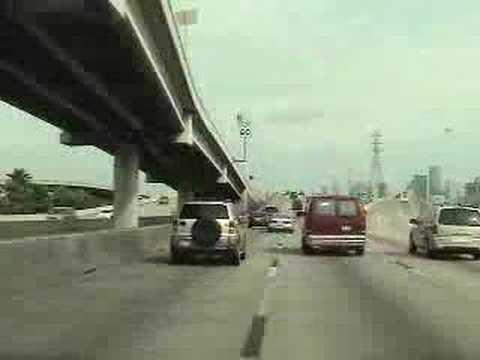 Houston Texas I-45 North Through Downtown