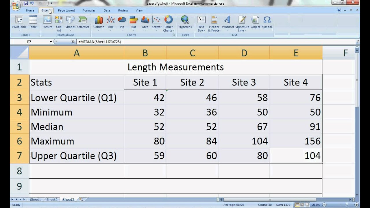 box and whisker plot tutorial on excel 2007